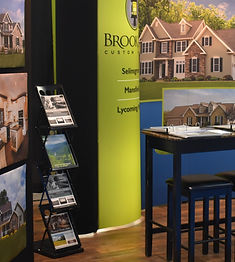 Brookside Homes exhibitor booth