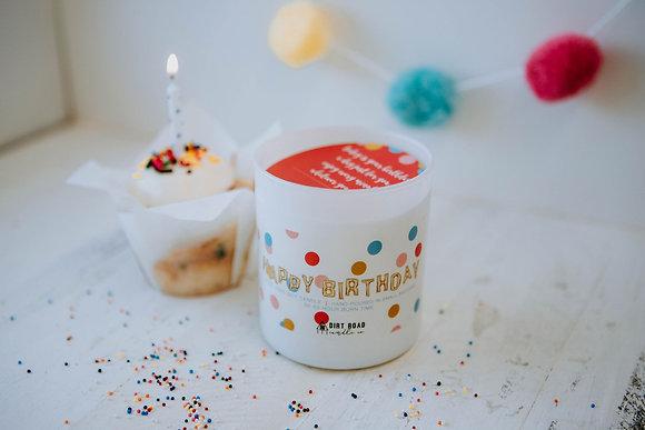 10 oz. Happy Birthday Candle