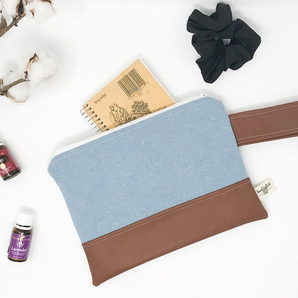 Dusty Blue | Mini Wristlet