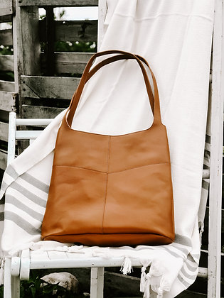 Boho Leather Tote