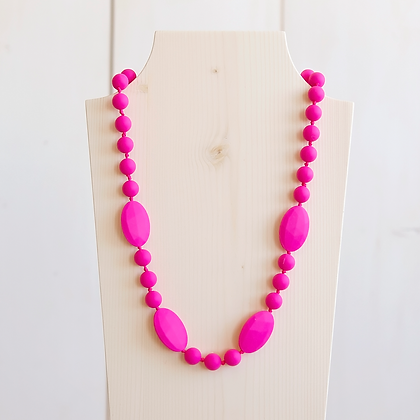Wholesale Teething Necklace - Fushia