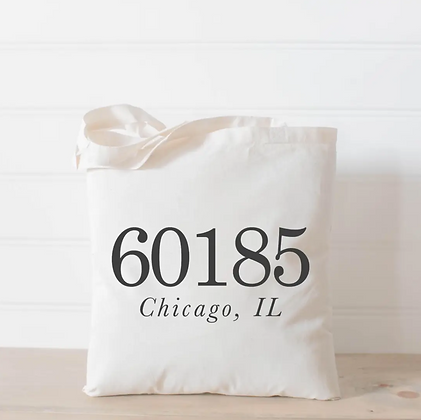 Wholesale Canvas Tote - Customized Zip Code