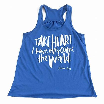 Take Heart | Adult Blue Tank