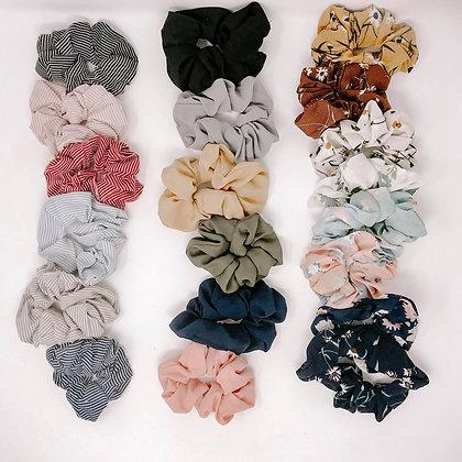 Wholesale Chiffon Hair Scrunchies