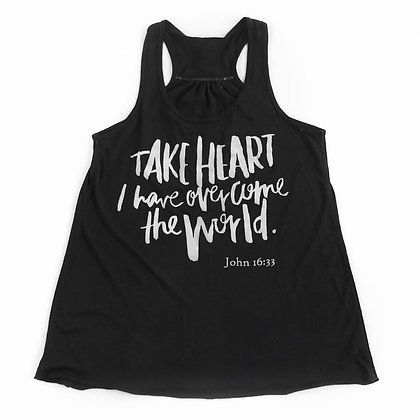 Take Heart | Adult Black Tank