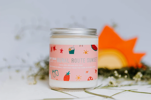 8 oz. Rural Route Sunset Candle