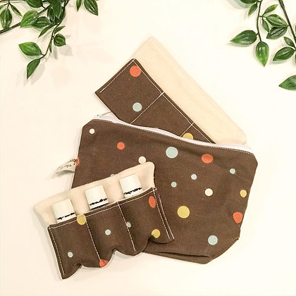 Brown Dots | Oil Pouch
