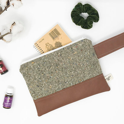 Dusty Green | Mini Wristlet