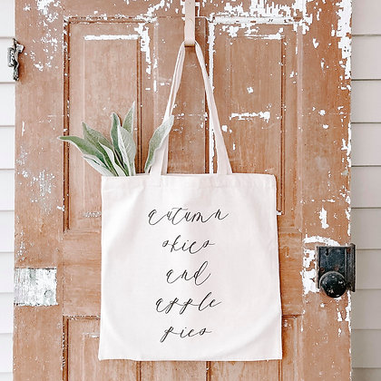 Autumn Skies & Apple Pies | Canvas Tote