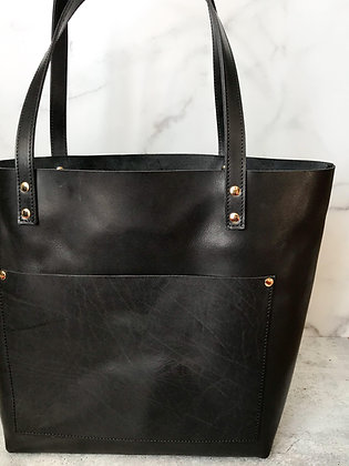Black Leather | Modern Tote