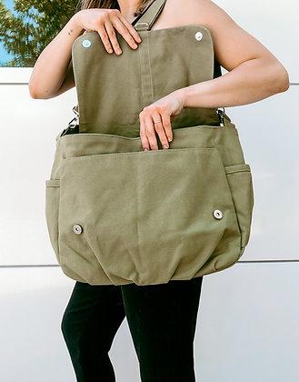 Olive Green | Canvas Messenger Bag