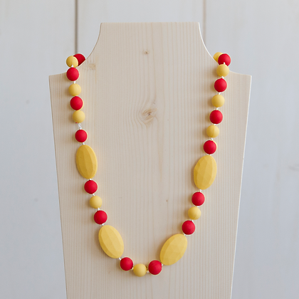 Wholesale Teething Necklace - Yellow/Red