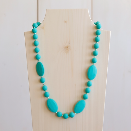 Wholesale Teething Necklace - Turquoise