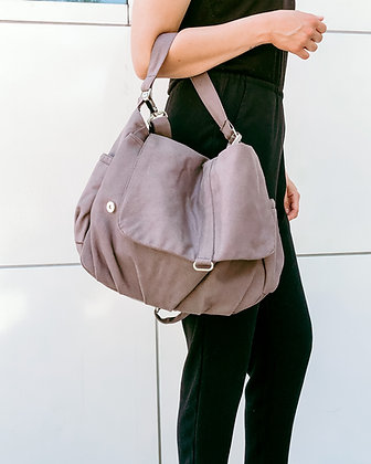 Purple Grey | Canvas Messenger Bag