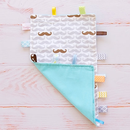 Wholesale Tag Blanket - Mustache Mania