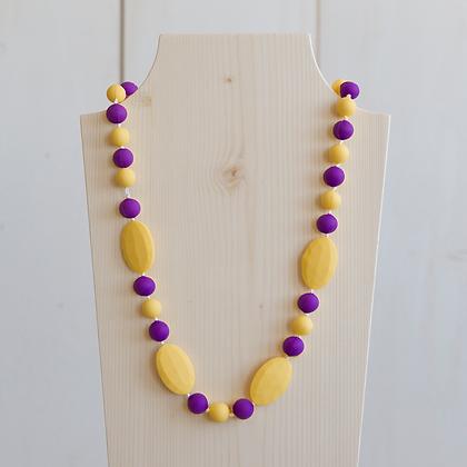Wholesale Teething Necklace - Yellow/Purple
