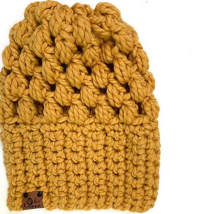 Puff Stitch Slouch | Mustard