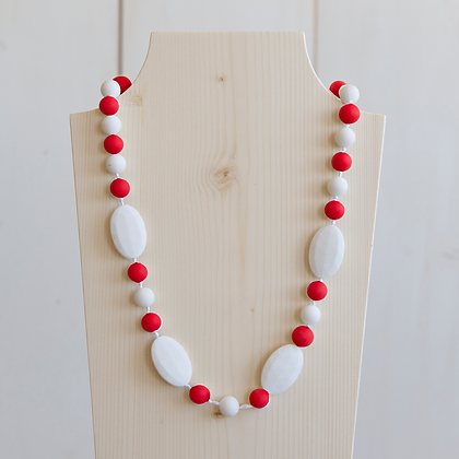 White & Red | Teething Necklace