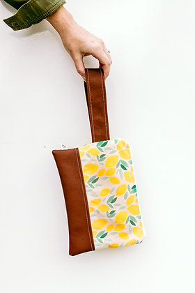 Wholesale Mini Wristlet - Lovely Lemons