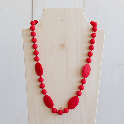 Wholesale Teething Necklace - Red