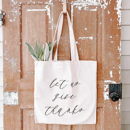 Wholesale Canvas Tote - Give Thanks