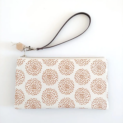 Burst & Black Cork | Mini Wristlet