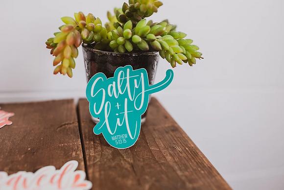 Salty + Lit Sticker