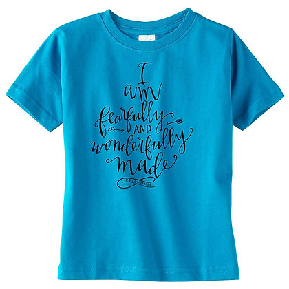 Fearfully Made | Kids Turquoise Tshirt
