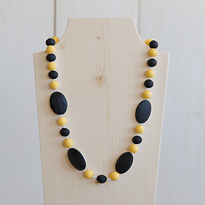 Wholesale Teething Necklace - Black/Yellow