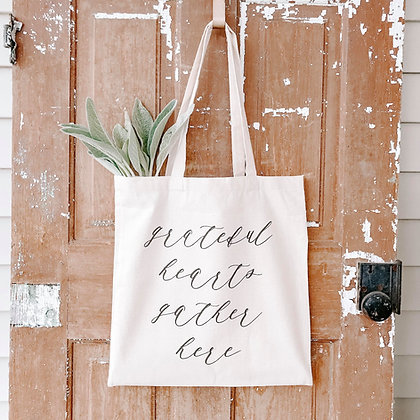 Grateful Hearts | Canvas Tote