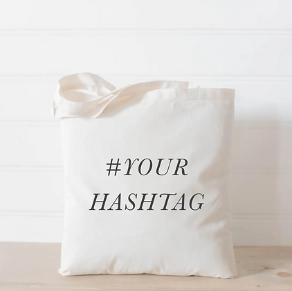 Wholesale Canvas Tote - Customized Hastag