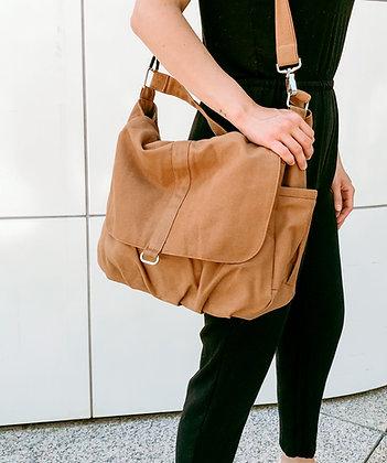 Cognac | Canvas Messenger Bag