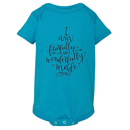 Fearfully Made | Kids Turquoise Bodysuit