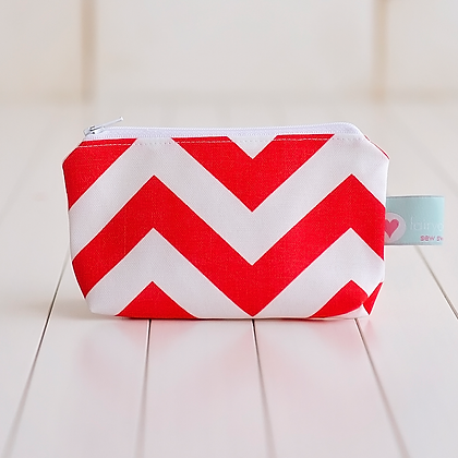 Wholesale Small Zipper Pouch - Katie Chevron
