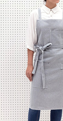 Solid Blue Crossback Aprons
