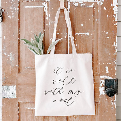 It Is Well | Canvas Tote