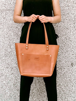 Cognac Leather | Modern Tote