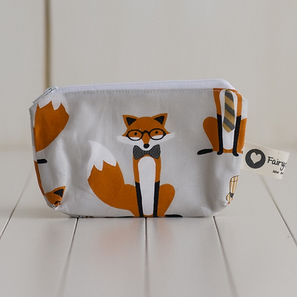 Small Zipper Pouch - Dapper Foxes