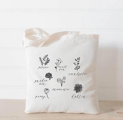 Wholesale Canvas Tote - Flowers