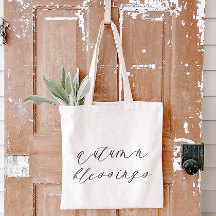 Autumn Blessings | Canvas Tote