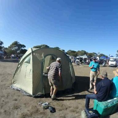 Shelterbox Tent erection