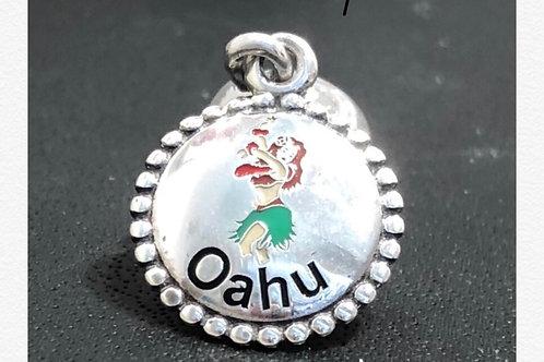 Pandora Hawaii -Oahu Hula Girl Dangle Charm