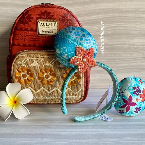 Aulani Moana Loungefly Backpack and Aulani Moana Ears