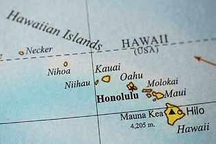 Hawaii Map, Map view of Hawaii, Hawaiian Islands Map