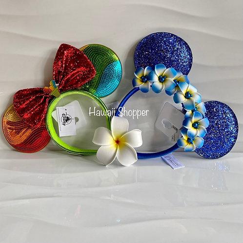Aulani Loungefly Shave Ice and Blue Wish Ears Bundle