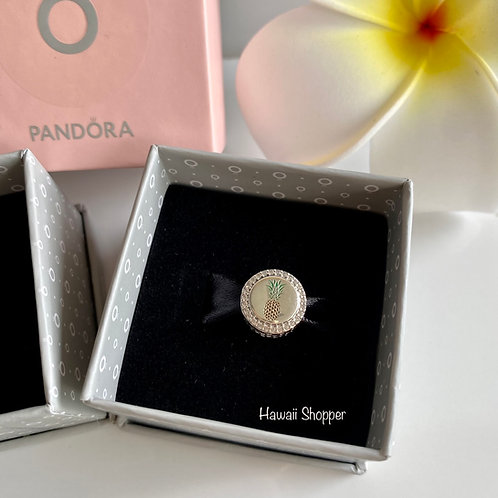 Pandora Hawaii Pineapple Button Charm with CZ Diamonds