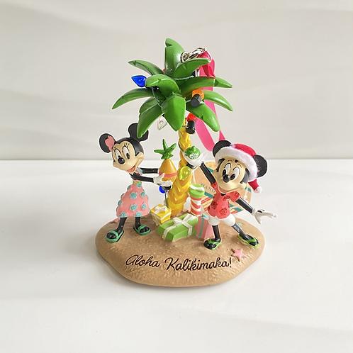 "Aulani Exclusive ""Aloha Kalikimaka"" Mickey and Minnie Ornament"