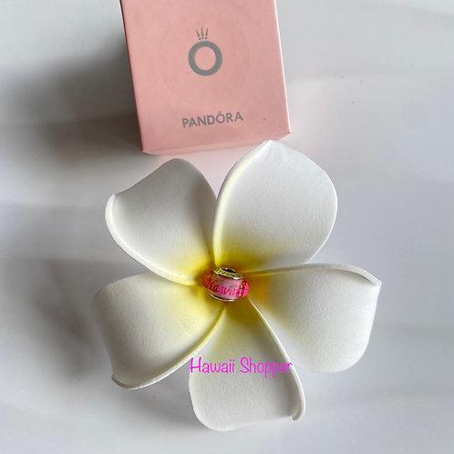 Pandora Hawaii Exclusive Pink Hibiscus Murano