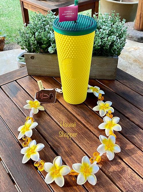 Aulani Lighted Plumeria Lei and Starbucks Hawaii Studded Pineapple Tumbler