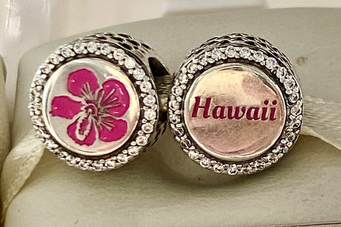 Pandora Hawaii Hibiscus Button Charm